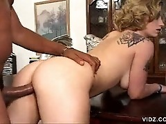 Two studs overstuff a Kat Langer's pussy