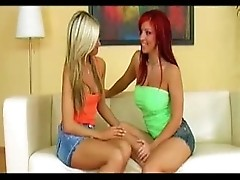 Hottest blonde and redhead lesbian