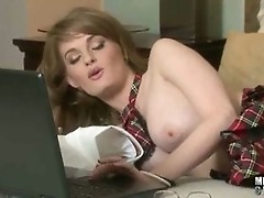 Faye Reagan Masturbates To Porn