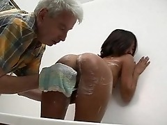 Teen wants old but still stiff dick for young twat