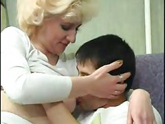 Blonde mommy gets hard anal fucked