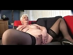 Tattoo Granny masturbation
