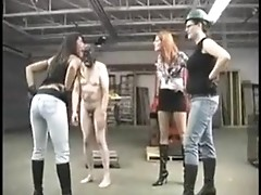 Three female worshippers are torturing over one poor guy