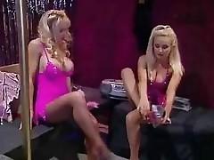 Lesbians in pantyhose having foot sex