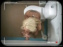 A hot girl on the toilet