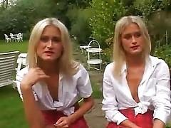 nice blonde twins