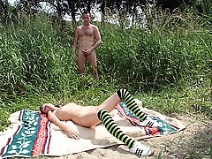 Schoolgirl fucked in the park