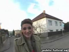 Brunette Flashing In Public