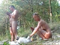 Young couple in nudist adventure sex - Rayra