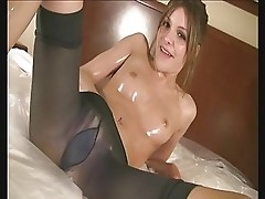 Lola Spandex Oiled Slut