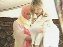 two horny arab girls doing lesbian sex in tent