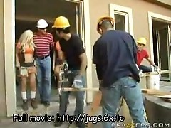 Jobsite with huge tits