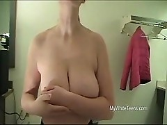 Black Man Gropes Busty White Girl