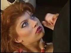 redhead german slut sucks hard cock for facial