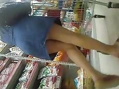 upskirt in supermarket romania