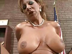 Hot Busty Mature Cougar Teacher Bangs Student