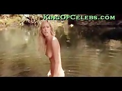 Tanya Roberts naked body in a lake
