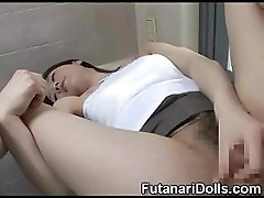 Asian Futanari Selfsuck!