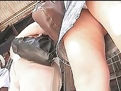 Frontal Upskirt White Panties