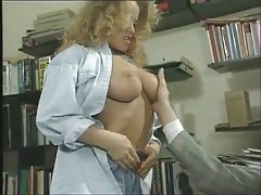 Office sex from the 90s with Tracy Adams