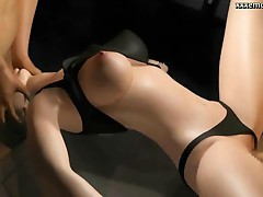 Beautiful animated babe gets drilled