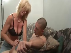 Nice milfs stroking guy