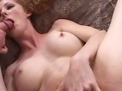 Fiery Redhead Annie Body Rides Young Man
