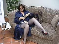 Suzie Mature Solo in Stockings