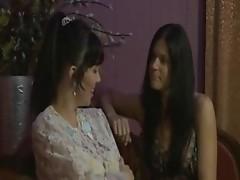 Brunette enjoying lesbian sex and licking pussy