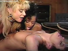 Nina Hartley is participating in a wild threesome