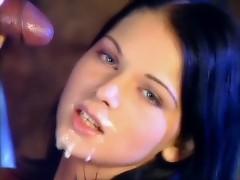 Hot Christina Bella is performing a nice blowjob