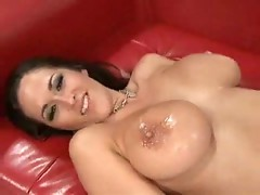 Hot brunette Carmella Bing reaches bright orgasms