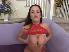 Carmella Bing exposes her big tits and gets fucked