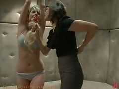 Lesbian bondage sluts having fun