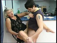 Young Adam licking Mature Margaret