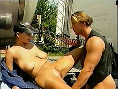 Female Truck in Pantyhose is getting fucked hard