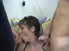 Mature amateur extreme insertions and kinky oral cumshots