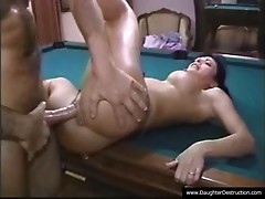 Young daughter mouth fucked by stepdad