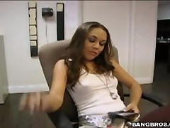 kristina rose takes a big one