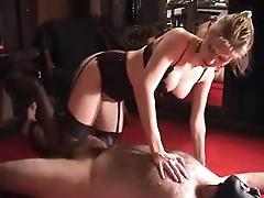 Sexy mature amateur dominatrix bizarre balls kicking