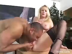 Blonde Business Slut Fucks And Sucks Good