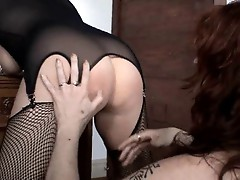 British slut Alicia Rhodes lesbian threesome