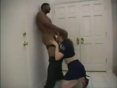BBW redhead Candy Nicole plays the police woman