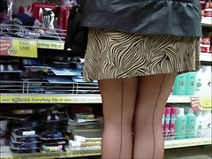 Shopping in seamed stockings (1)