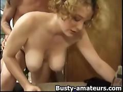Busty Samantha getting railed on behind