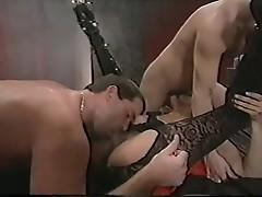 Raylene fucks 2 guys
