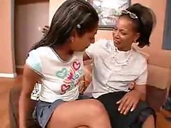 ebony lesbos testing sex toys