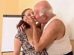 Grandpa Mireck And Pregnant Slut