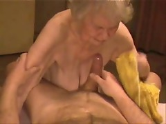 Cumming on face of very old grandma