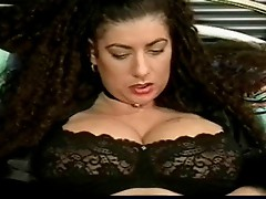 Tiziana Redford Mega Boobs in Black lingerie